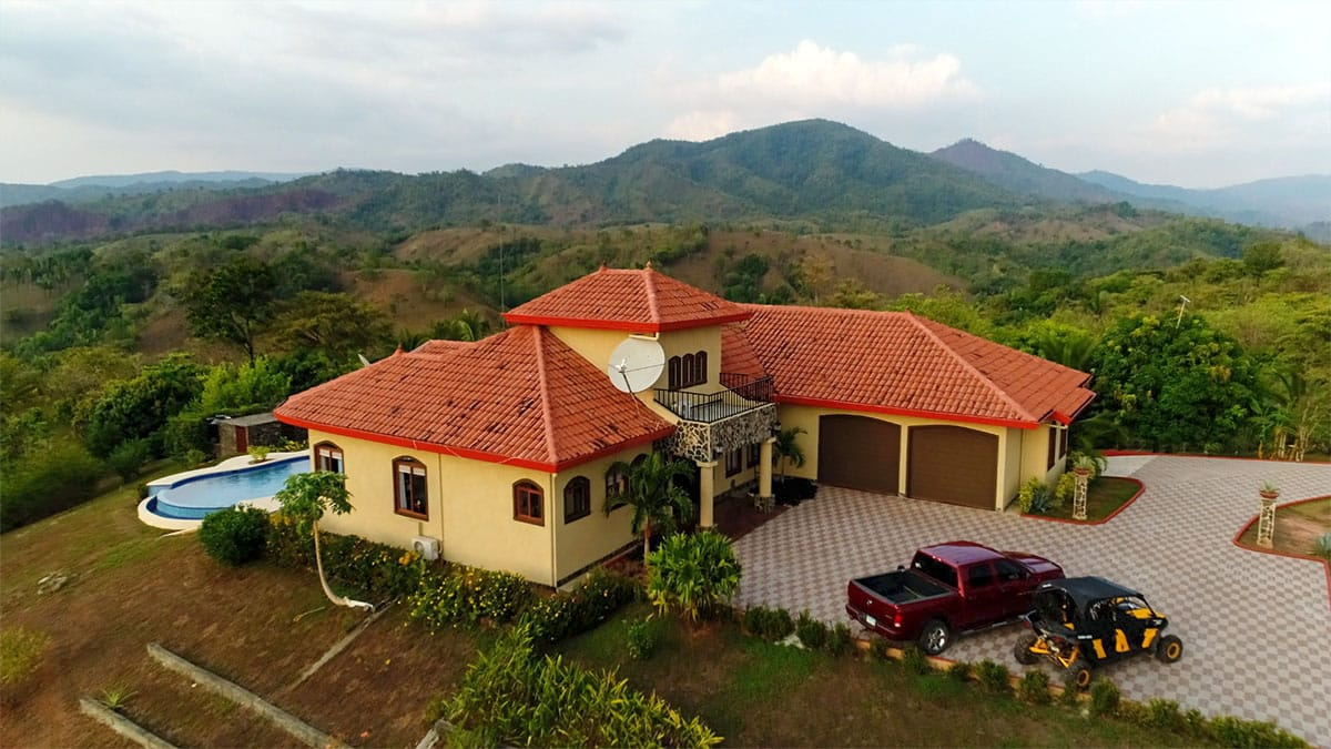 Paradise Ranch consists of a 3200 sq ft three bedroom, two bath, luxury home (with separate caretaker quarters) on 15 acres. Paradise Ranch, Azuero Peninsula, Panama